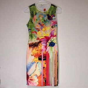 Clover Canyon Abstract Sheath Tank Dress